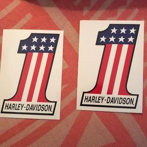 Two Harley Davidson Stickers